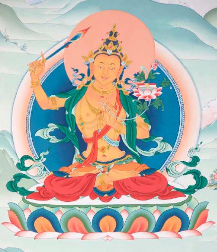 Wisdom Buddha Wall painting Karma Guen